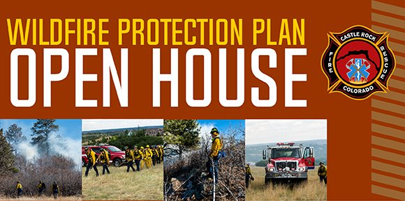 graphic with photos of wildfires and fire fighters