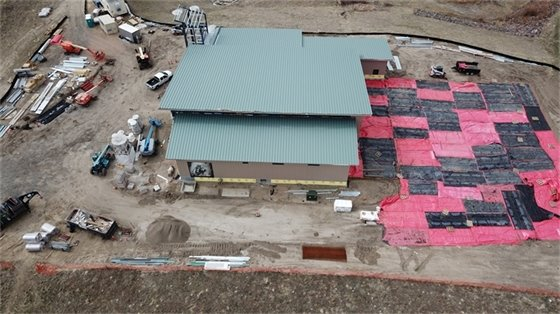 Aerial view from west side of new station 200 feet