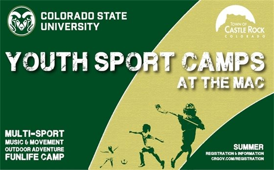 Graphic for youth sport camps at the MAC