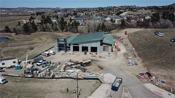 aerial view of new fire station at 100 feet