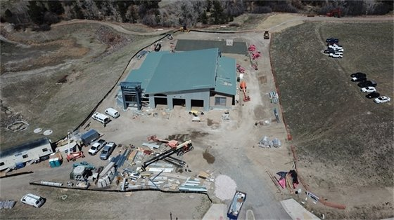 aerial view of new station at 200 feet